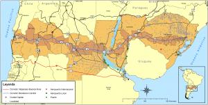 Regiões impactadas pelo Corredor Bioceânico Central (CBC)